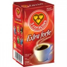 Coffee Extra Strong - 3 Coracoes 8.81oz.