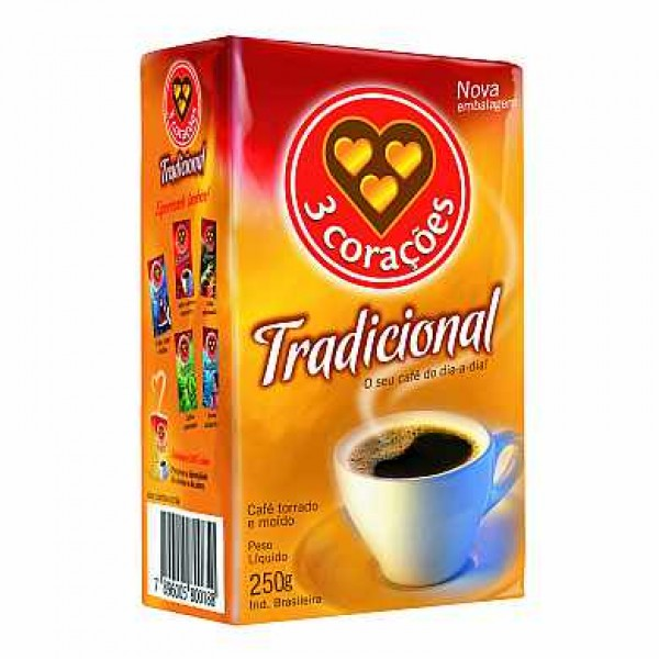 Traditional Coffee 3 Coracoes 8.81oz.