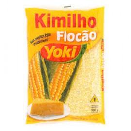 Pre-Cooked Corn Flour (Kimilho Flocao) - Yoki 17.6oz.