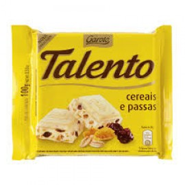 White Chocolate with Cereals and Raisins - Talento 3.5oz.
